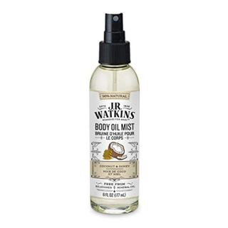 JR Watkins Natural Hydrating Body Oil Mist, Coconut Milk & Honey