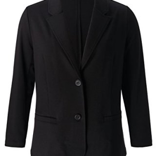 Chicwe Women's Plus Size Stretch Solid Classic Suit Jacket - Casual and Work Blazer