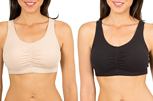 Fruit of the Loom Women's Sport Bra with Cookies , Sand/Black