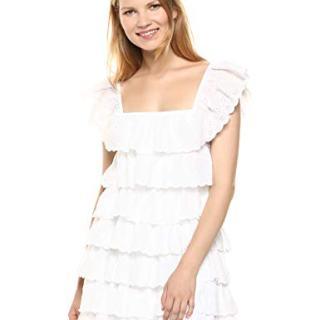 Show Me Your Mumu Women's Lucy Mini Dress, White Eyelet