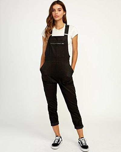 RVCA Women's Peace Mission Woven Overall Black