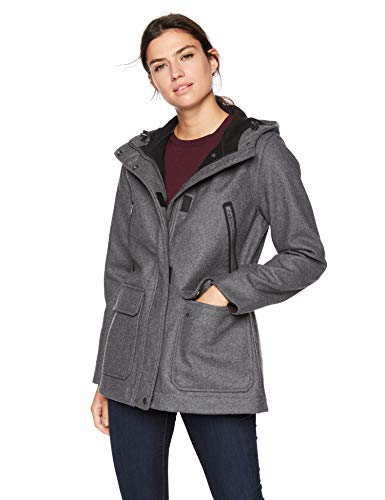 Woolrich Women's Seasons Change Hooded Coat, Charcoal Heather