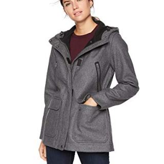 Woolrich Women's Seasons Change Hooded Coat, Charcoal Heather