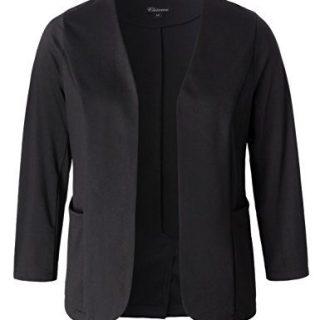 Chicwe Women's Stretch Work Chic Outfit Blazer Plus Size Jacket