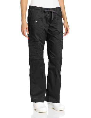 Dickies Women's GenFlex Cargo Scrubs Pant, Black