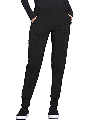 CHEROKEE Infinity Women's Mid Rise Tapered Leg Jogger Pant Black M Tall