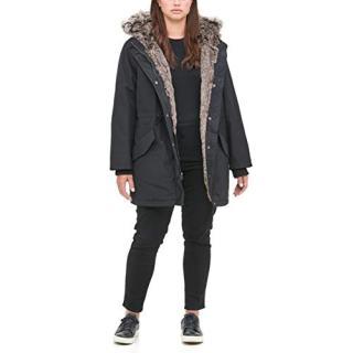 Levi's Women's Plus Size Arctic Cloth Faux Fur Trimmed Parka Jacket