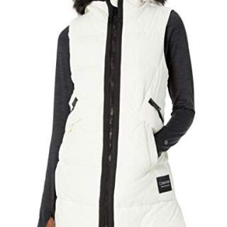 Calvin Klein Women's Quilt Walker Vest with Faux Fur Trim Hood
