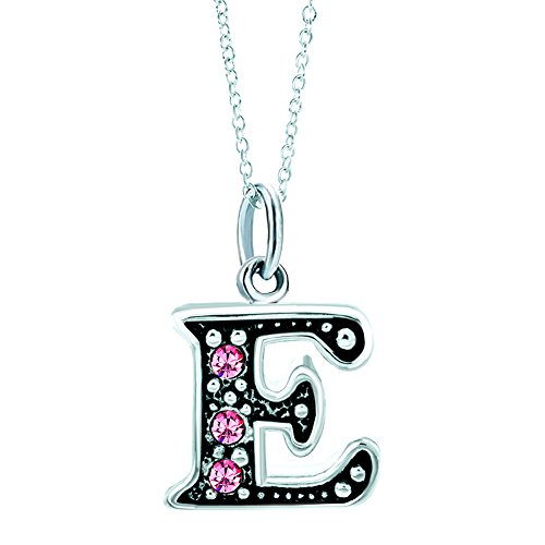 LovelyJewelry Pink Letter E Alphabet Initial Charms Bead Necklace Pendant