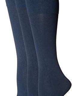 HUE Women's Graduated Compression Knee Hi Socks 3 Pair Pack