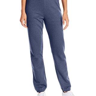 Hanes Women's Mid Rise Cinch Bottom Fleece Sweatpant, Navy Heather