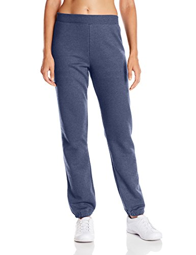 Hanes Women's Mid Rise Cinch Bottom Fleece Sweatpant, Navy Heather