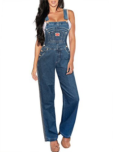 Hybrid & Company Womens Stretch Denim Overalls