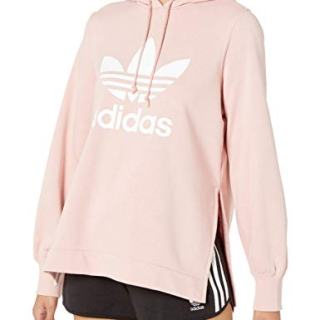 adidas Originals Women's Hooded Sweatshirt, pink spirit