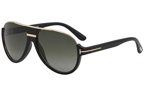 Tom Ford Black/Gold Dimitry Pilot Sunglasses Lens Category 3 Lens M