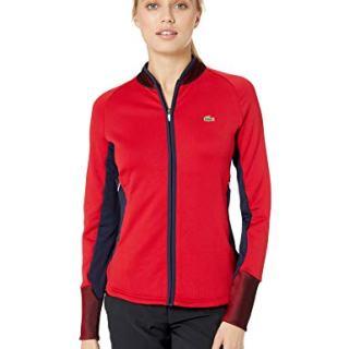 Lacoste Womens Sport Full Zip Mid Layer Ergonomic Golf Jacket Sweatshirt