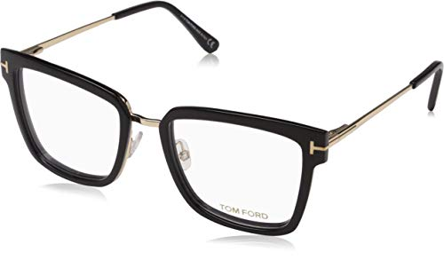 Tom Ford Geomteric Metal Eyeglasses Frame Shiny Black