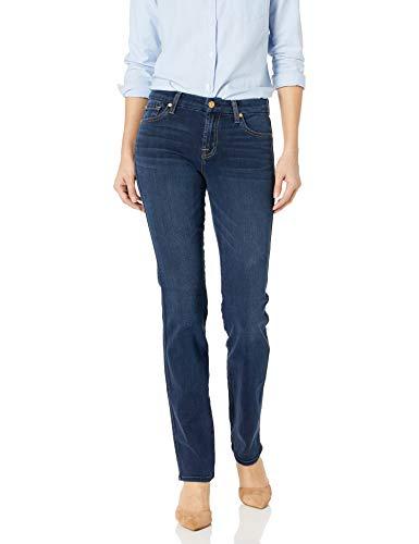 7 For All Mankind Women's Straght Leg Jean, Dark Moonlight Bay