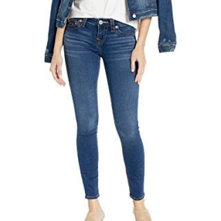True Religion Women's Halle Mid Rise Super Skinny Fit Jean