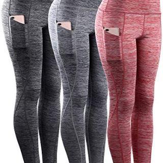 Neleus Tummy Control High Waist Workout Running Leggings for Women