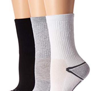 Merrell Women's 3 Pack Performance Hiker Socks , Grey Assorted (Crew)