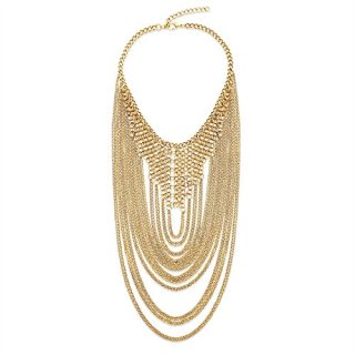 Steve Madden Chain-Link Loop Statement Necklace for Women