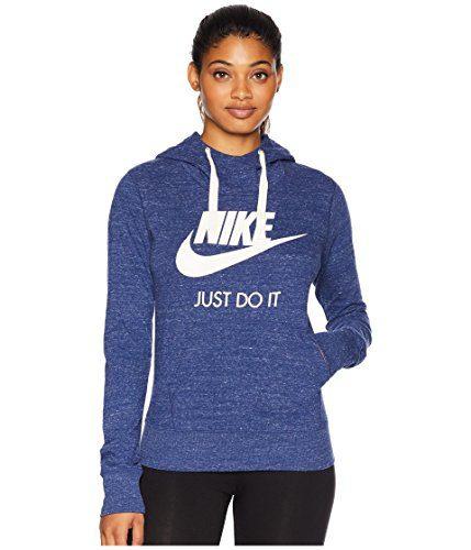 Nike Sportswear Gym Vintage HBR Hoodie Blue Void/Sail SM