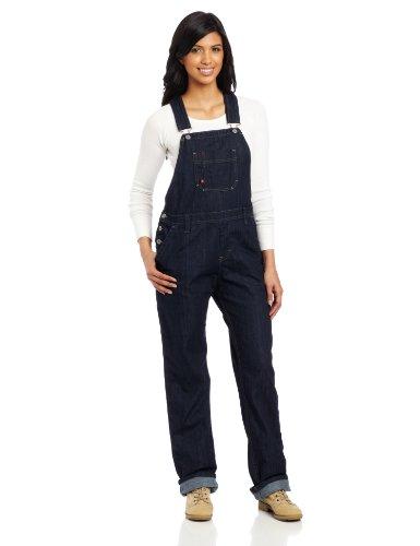 Dickies Women's Denim Bib Overall 100% Cotton Blue Denim