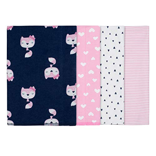 GERBER Baby Girls' 4-Pack Receiving Blanket