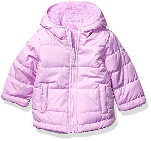 OshKosh B'Gosh Baby Girls Reversible Puffer Jacket Coat, Lilac to Cozy Lilac