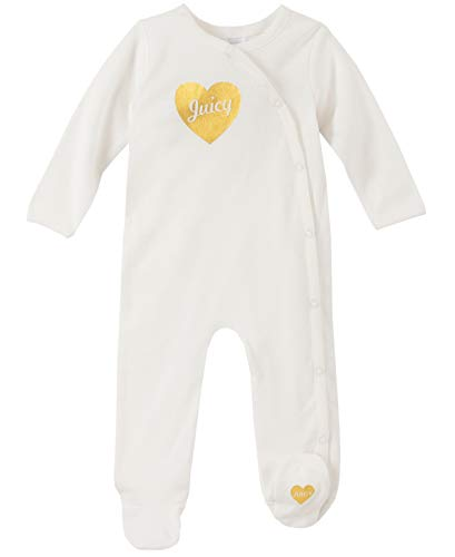 Juicy Couture Baby Girls Sleepers, Vanilla/Gold