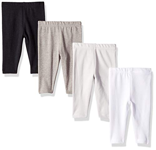 Hanes Ultimate Baby Flexy 4 Pack Knit Pants, Greys/Black