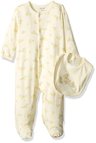 Little Me Baby Infant Footie and Hat, Yellow Print