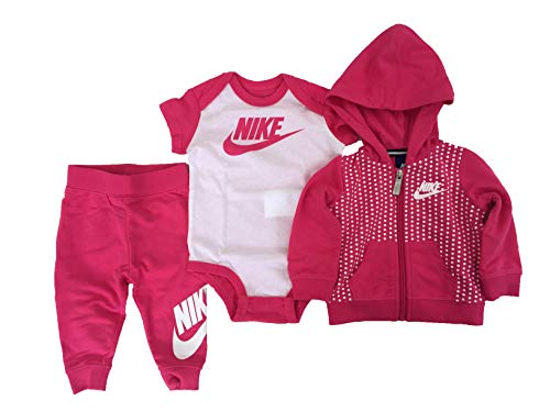 Nike Baby Girls Futura Terry 3 Piece Deluxe Gift Set