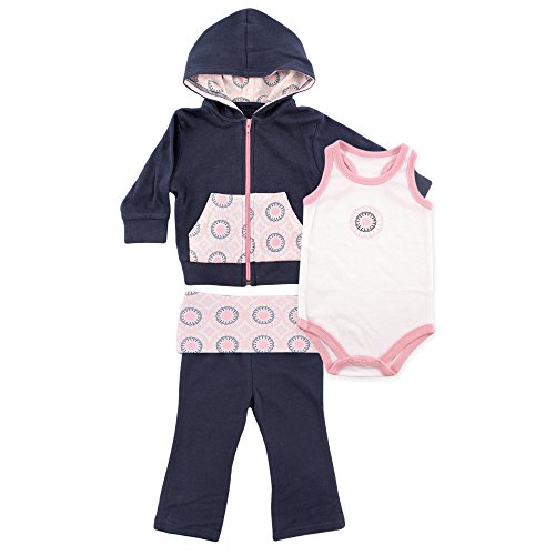 Yoga Sprout Baby-Boys 3 Piece Hoodie Bodysuit and Pant Set
