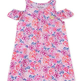 Juicy Couture Baby Girls Summer Dress, Pink Flower Print