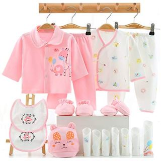 18PCS Newborn Girl Clothes Preemie Baby Outfit 0 3 Months Pants Layette Gift Set