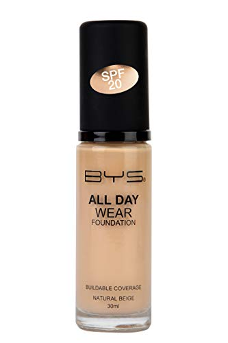 BYS All Day Wear Liquid Foundation Natural Beige - flawless base lasts all day