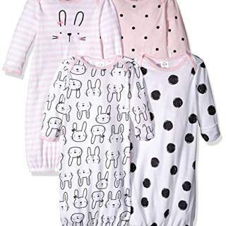 GERBER Baby 4-Pack Gown, Bunny, Preemie