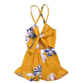 MA&BABY Baby Girls Halter One-Pieces Romper Jumpsuit Sunsuit Outfit Clothes