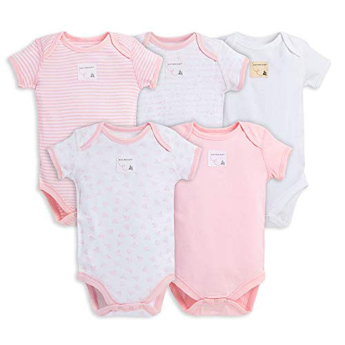 Burt's Bees Baby Unisex Baby Bodysuits, 5-Pack Short & Long Sleeve One-Pieces