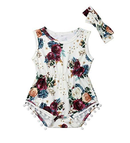 Newborn Kids Baby Girls Clothes Floral Jumpsuit Romper Playsuit