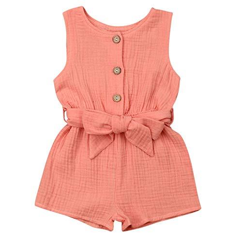 mettime Baby Girls Ruffle Romper Newborn Infant Bodysuit Jumpsuit