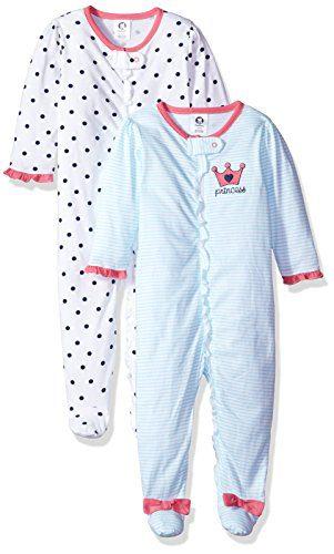 GERBER Baby Girls' 2-Pack Sleep 'N Play, Pink Princess