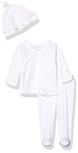 Calvin Klein Baby Newborn Take Me Home Set, Multi-Piece, Tossed Stars Foil
