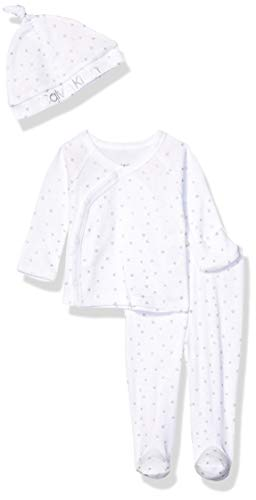 Calvin Klein Baby Newborn Take Me Home Set, Multi-Piece, Tossed Stars Foil