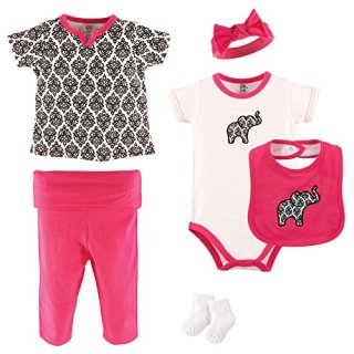 Yoga Sprout 6 pc Layette Set- Damask