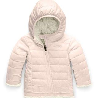 The North Face Infant Reversible Mossbud Swirl Hoodie, Purdy Pink/Vintage White