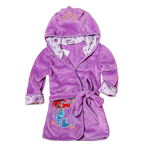 Baby Boys Girls Cartoon Bathrobe Soft Coral Fleece Infant Toddler Muticolored