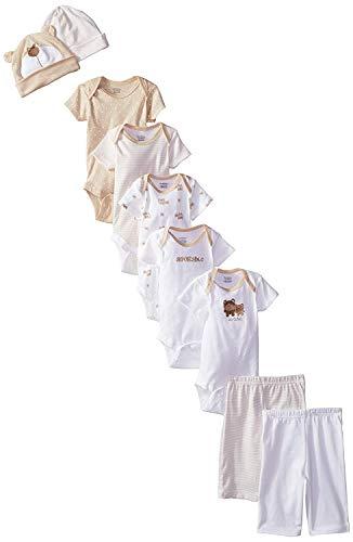 Gerber Unisex-Baby Newborn Bear 9 Piece Playwear Bundle, Bear